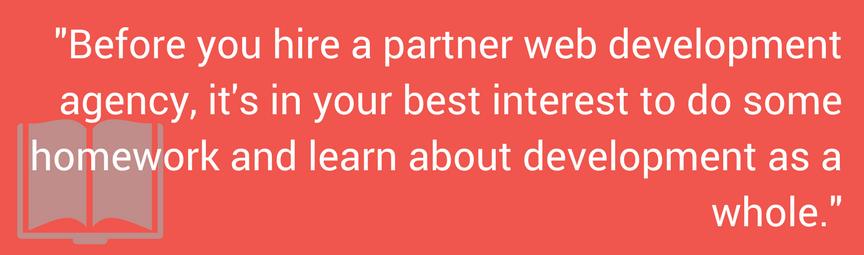 web development pull quote